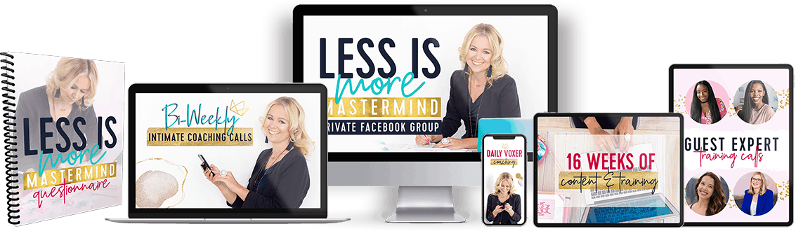 the less is more mastermind program mockup